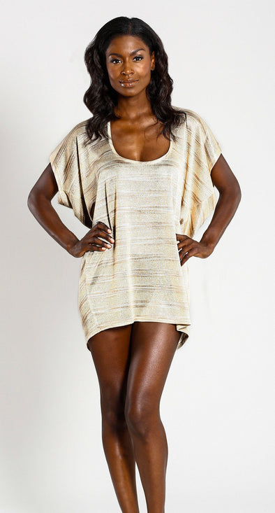 SCOOP NECK T-SHIRT-DRESS - Jordan Taylor Beachwear