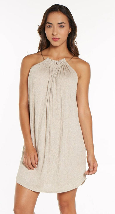 HALTER DRESS WITH KEYHOLE BACK - Jordan Taylor Beachwear