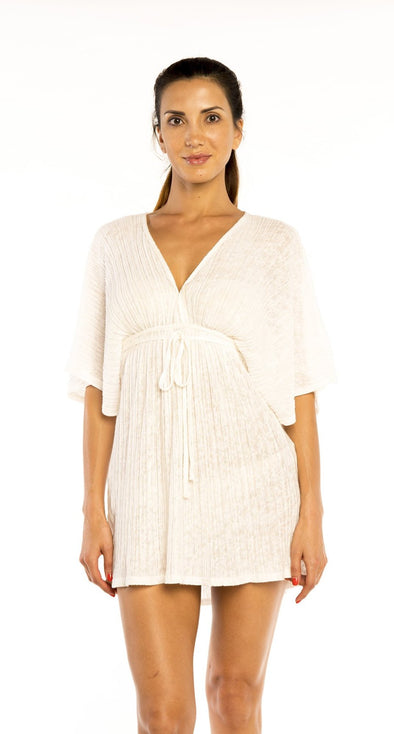 BATWING V-NECK DRESS - Jordan Taylor Beachwear