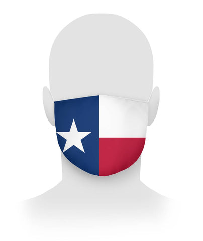 Texas Flag Face Covering Cloth Face Mask