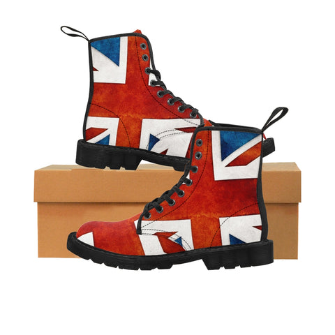 UK Flag Ladies Canvas Boots