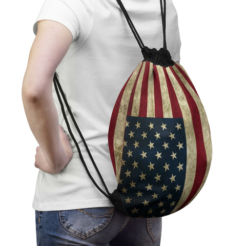 American Flag Draw String Bag Patriotic