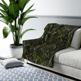 Hunting Camo Sherpa Fleece Blanket