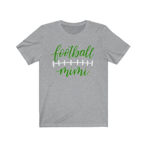Football Mimi T Shirt  With Green and White Print