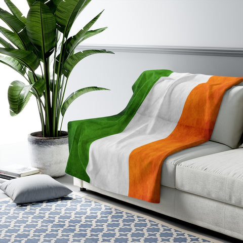 Irish Flag Sherpa Fleece Blanket