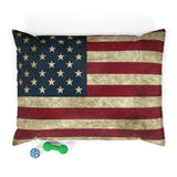 American Flag Dog Bed
