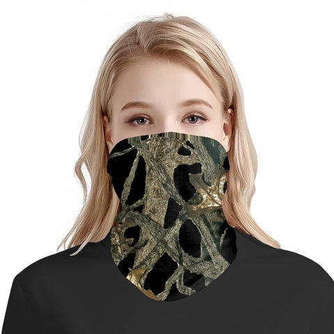 Black Camo Sports Scarf Face Covering