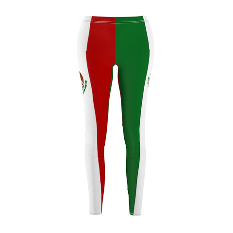 Mexican Flag Leggings With Authentic Colors and Sizes