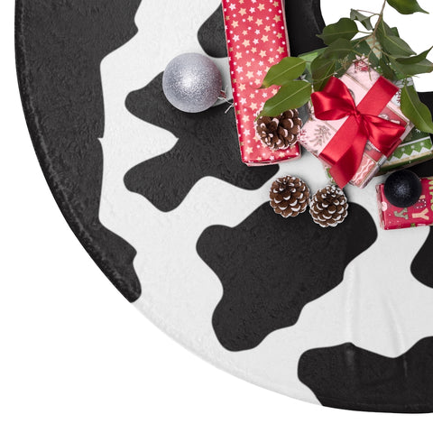 Cow Print Christmas Tree Skirts