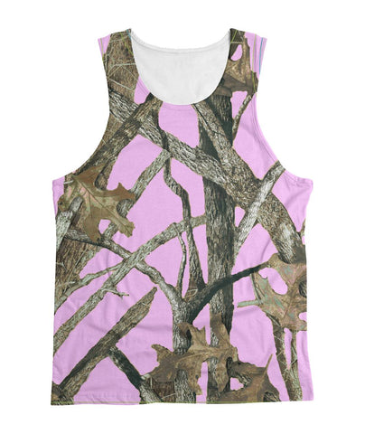 Light Pink Camo Tank Top Sublimation Tank