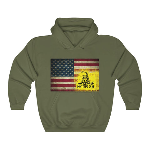 American Flag and Dont Tread o Me Flag Hoodie