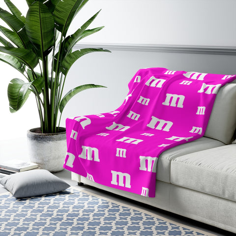 Pink M Candy Sherpa Fleece Blanket