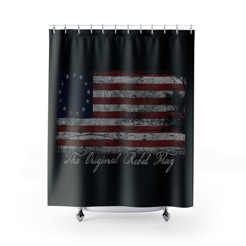 The Original Flag For Rebels is the USA Stars and Stripes Shower Curtains
