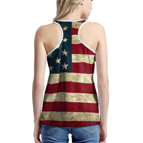 Women's American Flag Tank Top In The Limited Edition Series
