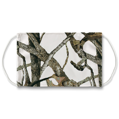 White Camo Sublimation Face Mask