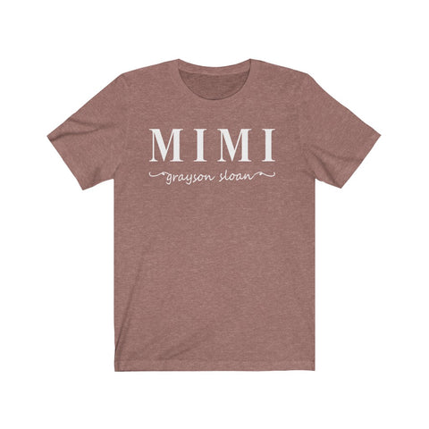 Custom Name Mimi Shirt With Grand Kids Names Block Font