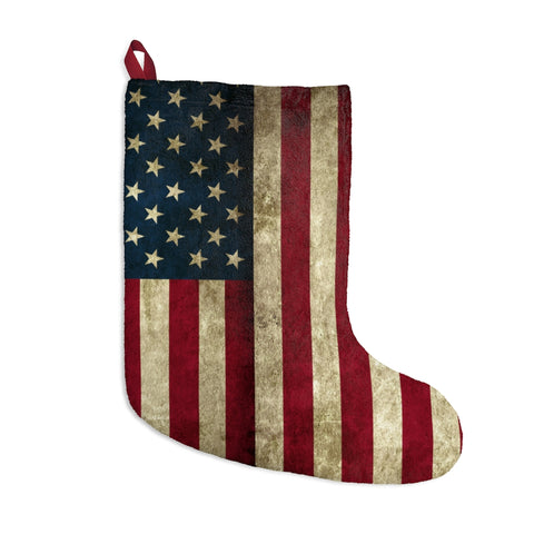 American Flag Grunge Christmas Stocking
