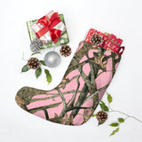 Pink Camo Christmas Stockings in Hunting Pattern
