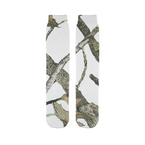 White Camo Sublimation Tube Sock