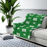 Green M Candy Sherpa Fleece Blanket