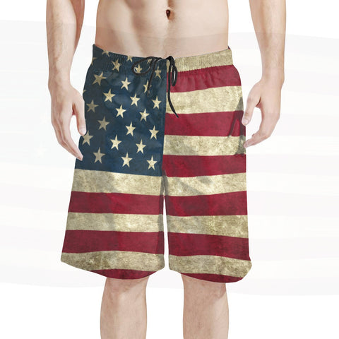 Men's Vintage American Flag Board Shorts Limited Edition Series
