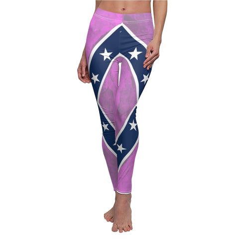 Pink Rebel and Dixie Flag Women's Leggings