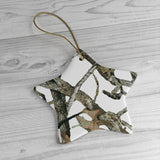Country Charm White Camouflage Christmas Ornaments