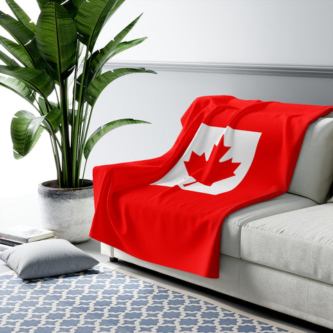 Canada Flag Sherpa Fleece Blanket