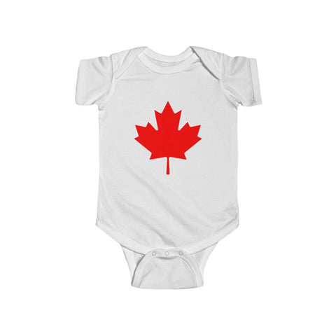 Canada Maple Leaf Flag Baby Onesie Infant Fine Jersey Bodysuit