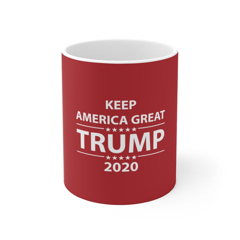 Donald Trump Coffee Mug  Keep America Great 2020 Election Support