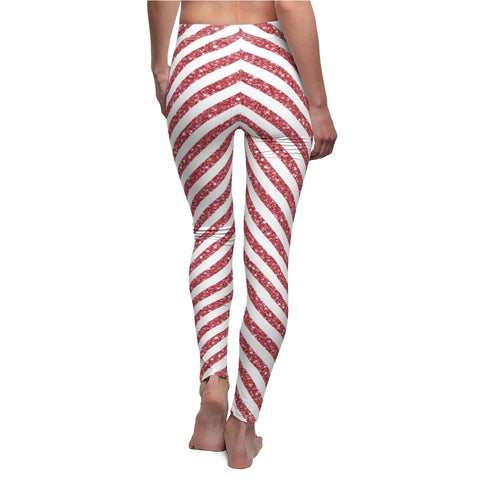 Ladies Candy Cane Christmas Leggings