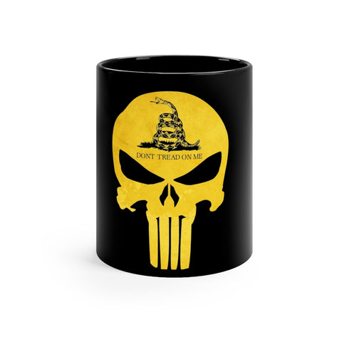 Gadsden Flag Don't Tread On Me Black mug 11oz