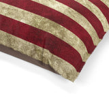 American Flag Pet Bed with Grunge Patriotic Pattern