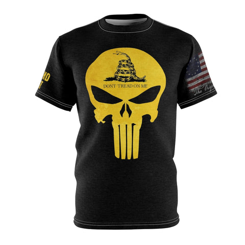Gadsden Flag T Shirt with Yellow Skull and Come and Take It