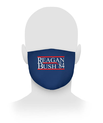 Reagan Bush Face Covering 1984 Cloth Face Mask