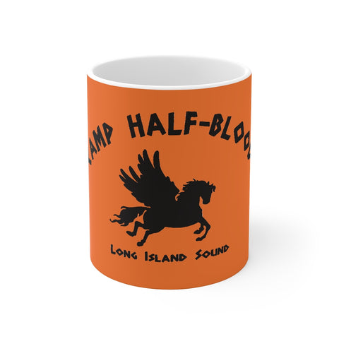Orange Percy Jackson Camp Half Blood Mug 11oz