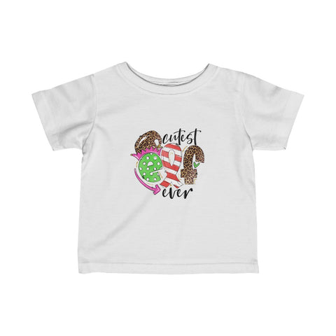 Cutest Elf Ever Baby T Shirt with Leopard Print