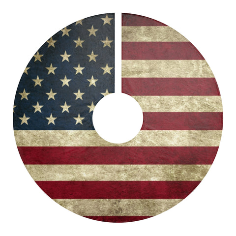 USA Flag Christmas Tree Skirt Premium