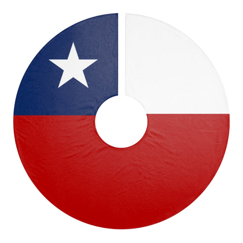 Texas Flag Christmas Tree Skirts