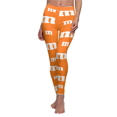 Orange M Chocolate Candy Leggings