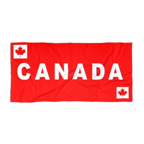 Canada Beach Towel With Canadian Flag