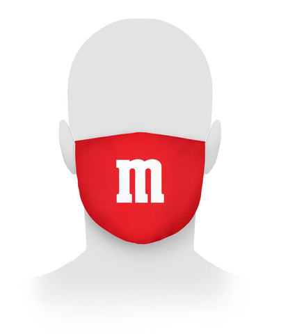 Red M M Face Mask Cloth Face Mask