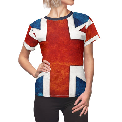 TrraditionalUK Flag All Over Shirt for Women Vintage