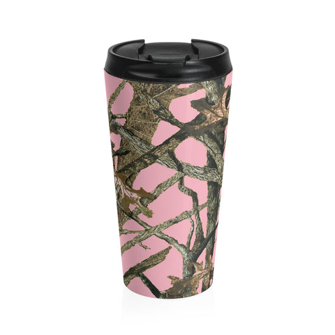 Pink Camo Stainless Steel Travel Mug