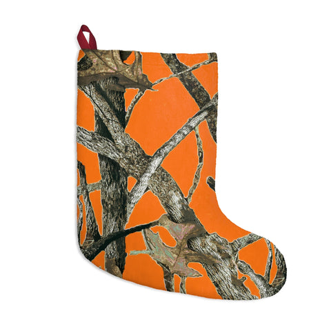 Orange Camo Christmas Stockings in Hunting Pattern