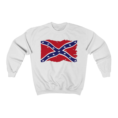 Distressed Dixie Southern Flag Crew Neck Sweatshirt