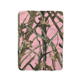 Hunting Pink Camo Sherpa Fleece Blanket