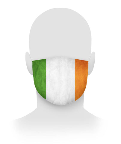 Irish Flag Face Covering Cloth Face Mask