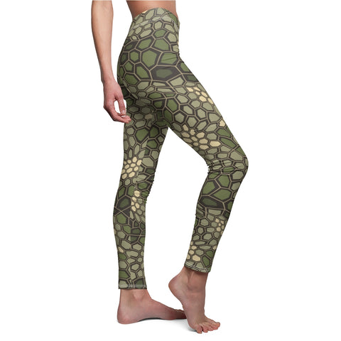 Ladies Snake Skin Camo Leggings Premium