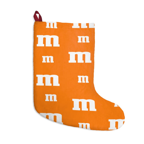 Orange MM Christmas Stockings